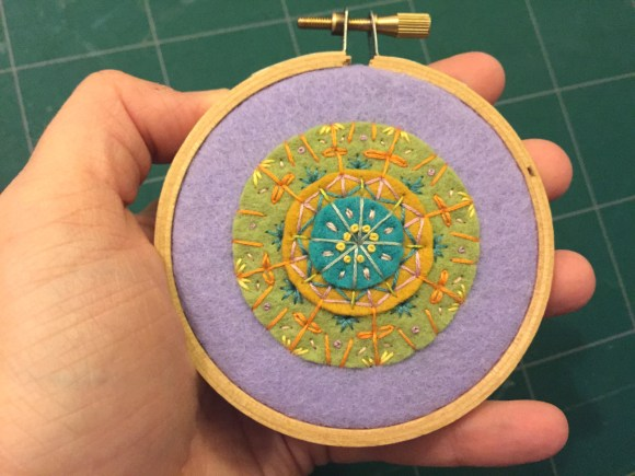 Gifts I Made - Embroidered Felt Mandalas from Hugs are Fun