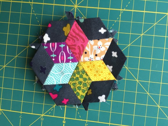 Diamond English Paper Piecing Pincushion from Hugs are Fun