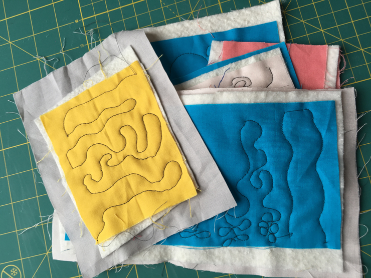 January TSNEM - Free Motion Quilting from Hugs are Fun