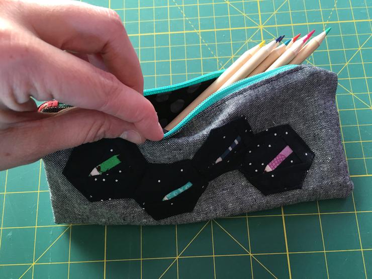 Dream Big Blog Hop - A Hexie Pencil Case