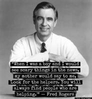 Mister Rogers look for the helpers