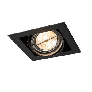 Inbouwspot zwart vierkant verstelbaar 1-lichts - Oneon 111-1