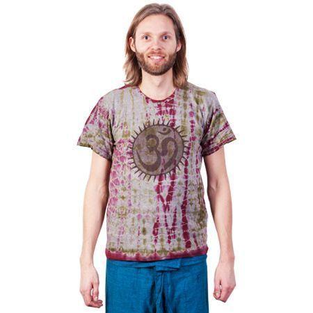 Boeddistisch T-Shirt ohm print, Nepal maat M/L - M