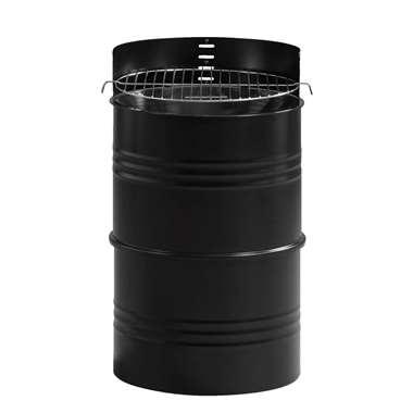 Houtskool barbecue Grill Drum - zwart - 62x36 cm - Leen Bakker