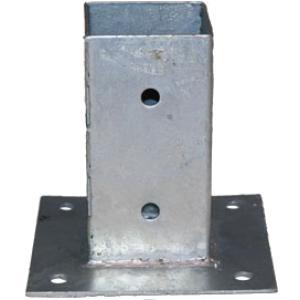 Plaatpaalhouder - 9 x 9 cm