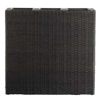 Plantenbak Miami - zwart - 76x79x22 cm - Leen Bakker