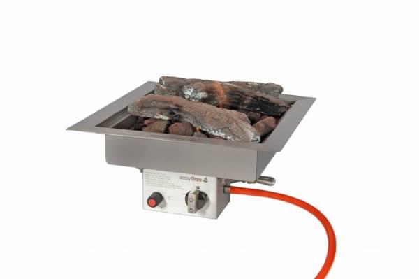 Easy Fires inbouwbrander vierkant 40x40x16,5cm.