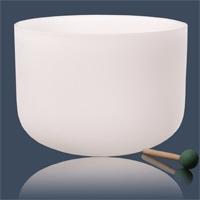 Kristallen klankschaal F-toon + tas 432 Hz - 25 - F - Kristal