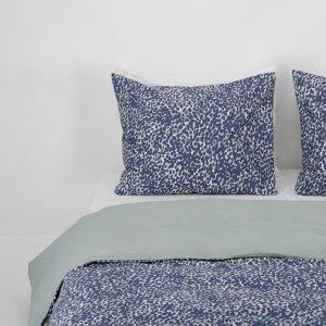 HEMA Dekbedovertrek - Zacht Katoen -mgevlekt Groen Blauw (blauw)