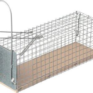 Diervriendelijke rattenval kooi 28 cm ongediertebestrijding - Humane ongediertebestrijding/ongediertewering tegen ratten