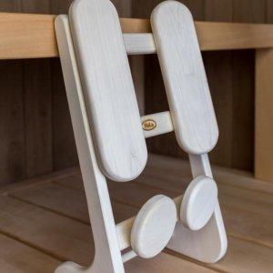 Ergonomische rugsteun (merk; Halu) voor de infrarood- & finse sauna (Espen)