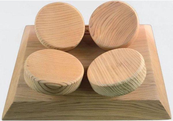 HaLu vierkante hoofdsteun sauna (Red Cedar)