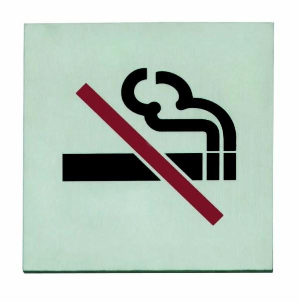 Intersteel Pictogram zelfklevend vierkant 76x76 rookverbod RVS