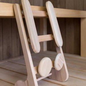 Ergonomische rugsteun (merk; Halu) voor de (infrarood) sauna (Red Cedar)