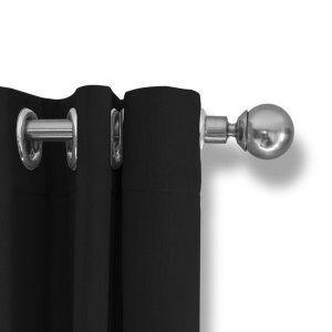LIFA LIVING Verduisterende Gordijnen, Zwart Polyester Gordijn, Modern Geluidswerend Gordijn met Ringen voor Woonkamer, Slaapkamer, 300 x 250 cm