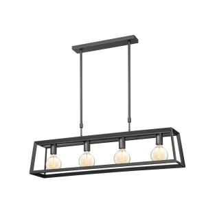 Light depot - hanglamp Sito taps telesc 4L - zwart - Outlet