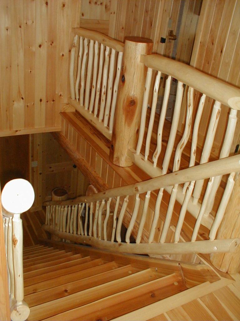 Cedar Log Lake Home Set In Hillside Huisman Concepts
