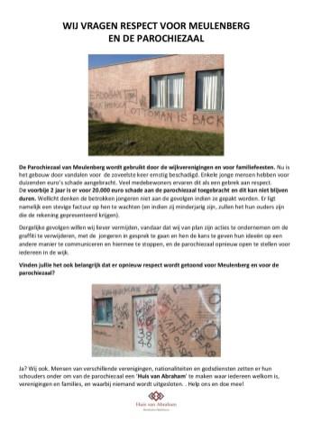 WIJ VRAGEN RESPECT VOOR ONZE PAROCHIEZAAL_A4_NL