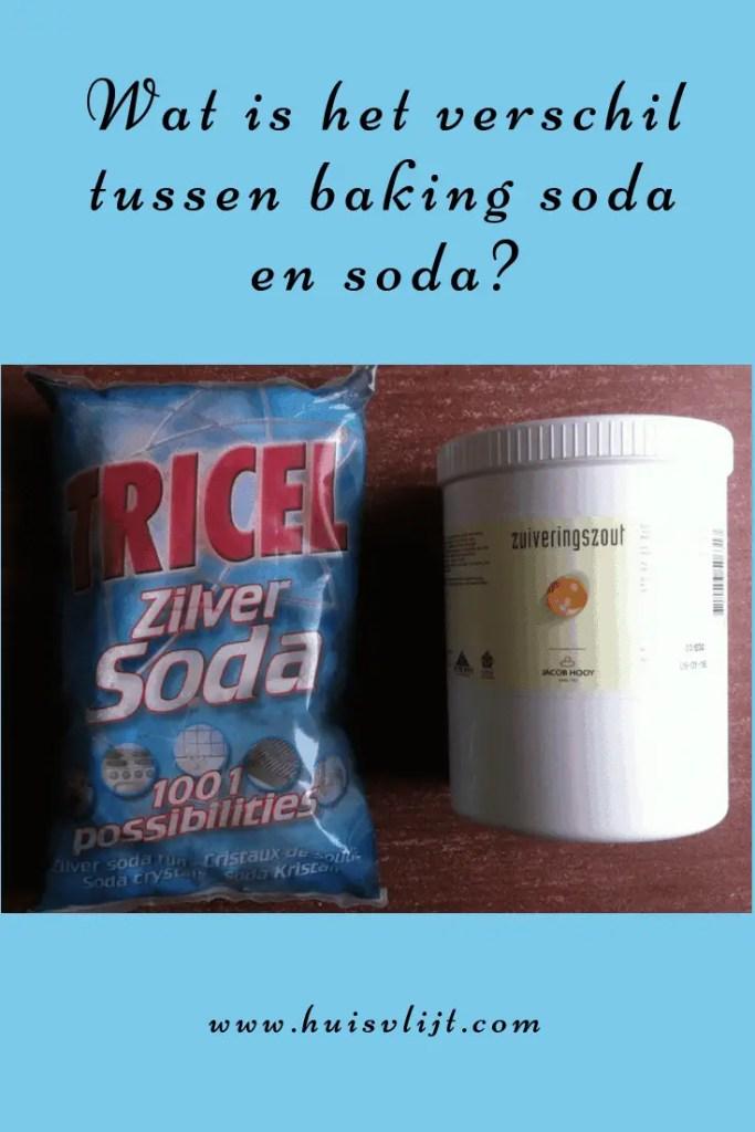 Wat is het verschil tussen bakingsoda en soda