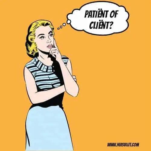 patient vs client