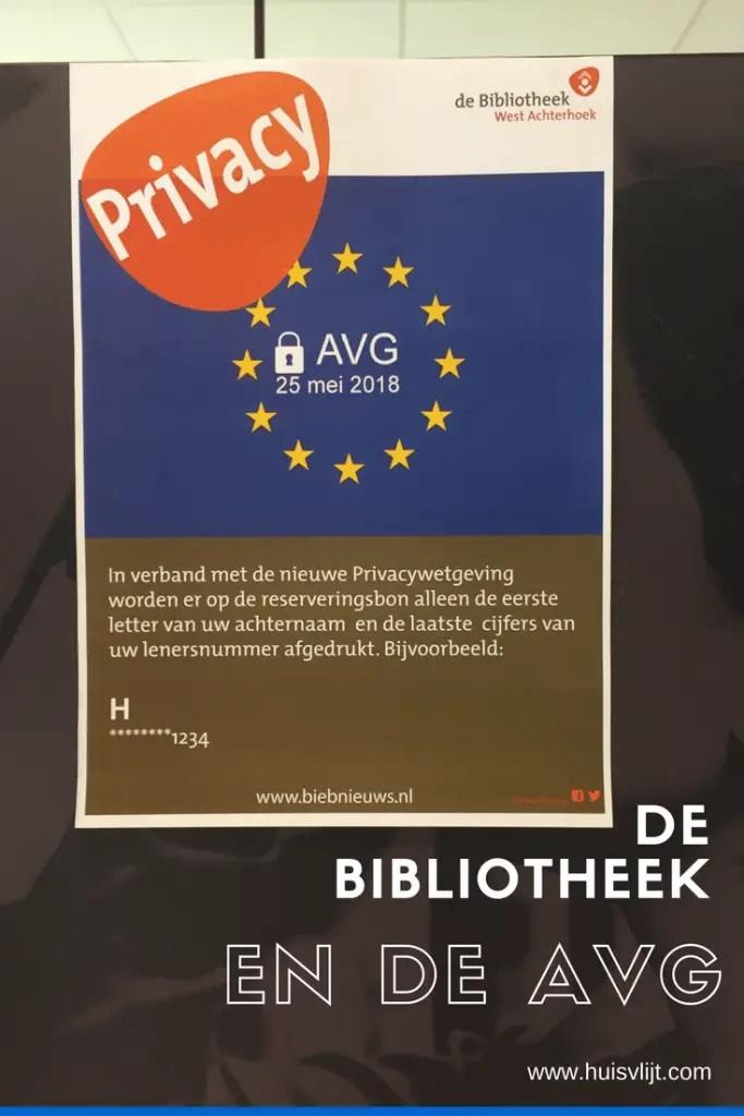 De bibliotheek en de AVG
