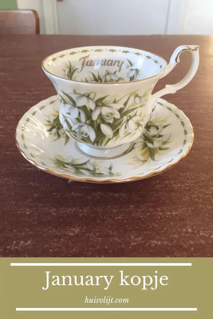 January kopje uit de Royal Albert Flower of the Month series