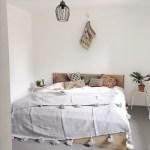 pompomsprei in de slaapkamer