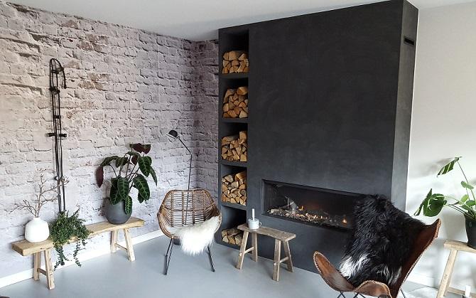 Houtblokken In Huis : Onze tweede brickwall in huis en wat is ie gaaf huizedop