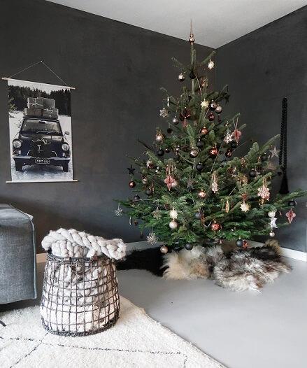 kerstboom warme kleuren
