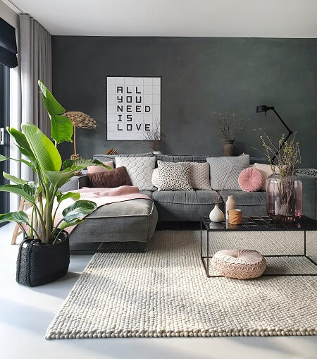 roze in je interieur