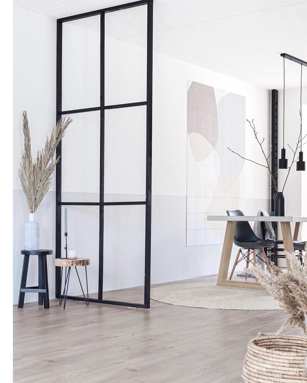 Binnenkijker in Scandinavische woning interieur