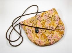 Sac à bandoulière asymétrique cerisiers en fleur