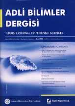 Adli Bilimler Dergisi