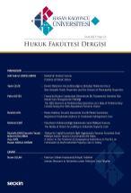 Hasan Kalyoncu Üniversitesi Hukuk Fakültesi Dergisi