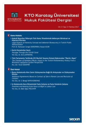 KTO Karatay Üniversitesi Hukuk Fakültesi Dergisi,