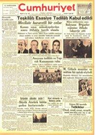 Laikliğin İlanı Cumhuriyet Gazetesi
