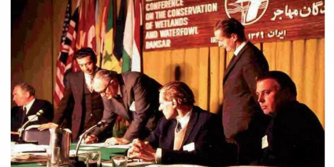 Özellikle Su Kuşları Yaşama Ortamı Olarak Uluslararası Öneme Sahip Sulak Alanlar Hakkında Sözleşme (Ramsar Sözleşmesi)