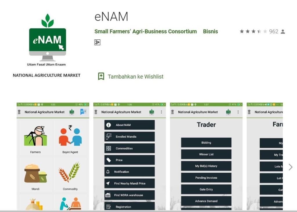Aplikasi eNAM India