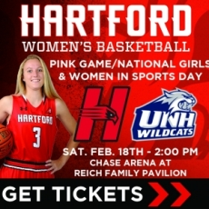 Division I Women's Basketball: Hartford vs. New Hampshire PINK Game/National Girls & Women in Sports Day
