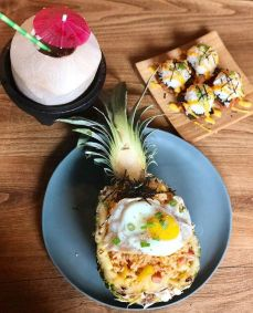 Pineapple Kimchi Fried Rice with Egg