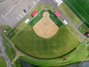 aerial view of a baseball field - aerial-view-of-a-baseball-field