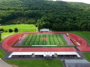 aerial view of track and football field 1 - aerial-view-of-track-and-football-field