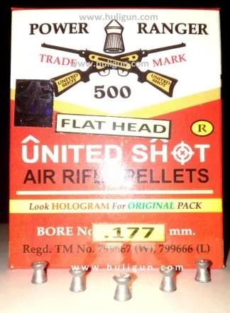 United Shot Flat Head Wadcutter Pellets for Air Pistols Rifles Airguns Buy Online India