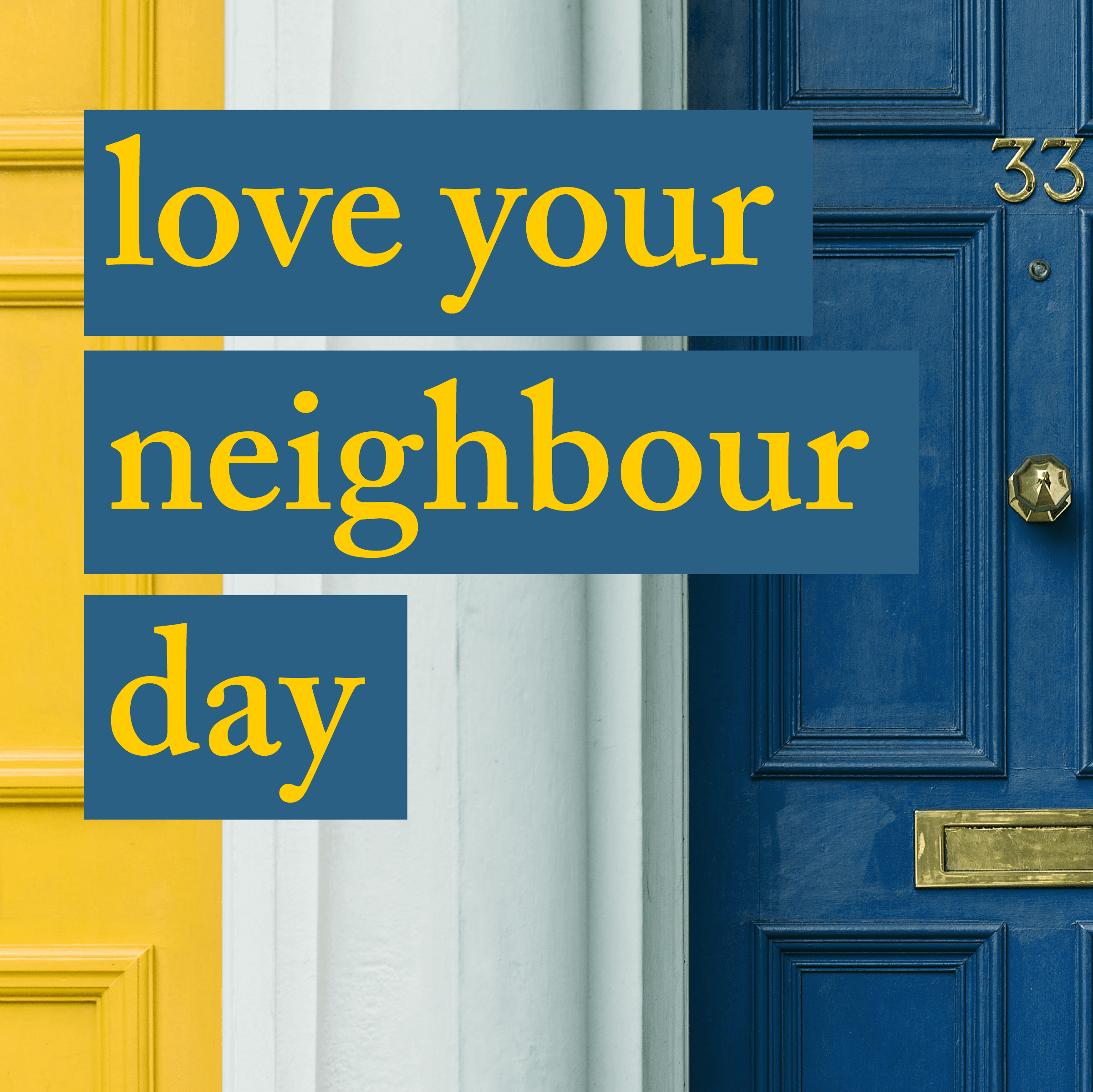 love your neighbour day