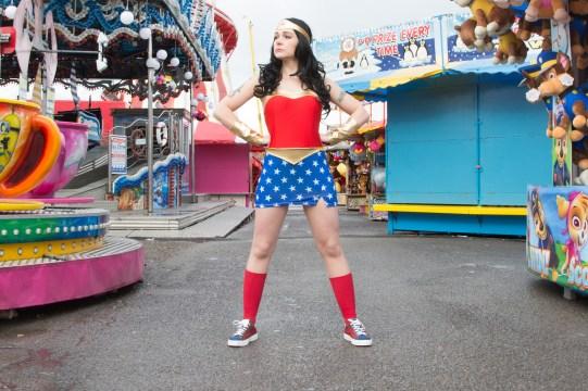 Hullywood Icon Number 4 Film: Wonder Woman Location: Hull Fair, Walton Street.
