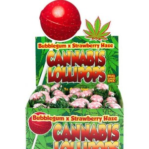 Cannabis Lollipops - Bubblegum x Strawberry Haze