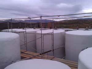 Hulsey Contracting Wine Tank Foam Insulation Project