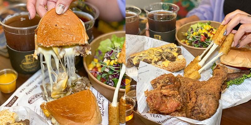 「福嗑Lucky Eat 熱壓·古巴·三明治」起司控必訪!超好吃的爆餡古巴三明治、新品蒜香炸雞上市!漢堡、沙拉、炸物!信義區美食推薦|永吉路