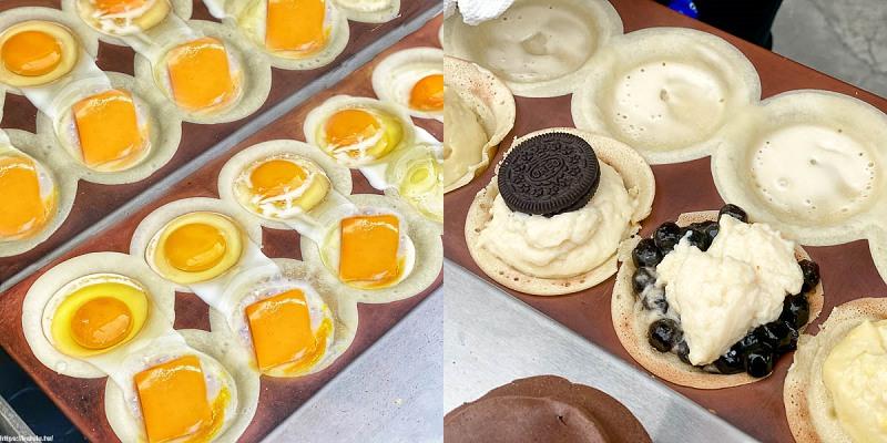 台南美食「Q弟紅豆餅」超人氣爆餡紅豆餅台南吃的到!爆餡雞蛋起司,OREO,金莎巧克力通通包進去!限定濃郁榴槤超夠味!