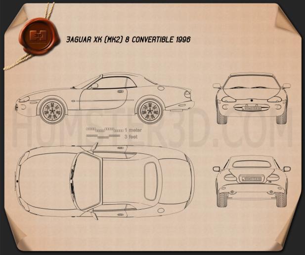 Jaguar Xk8 Convertible Blueprint